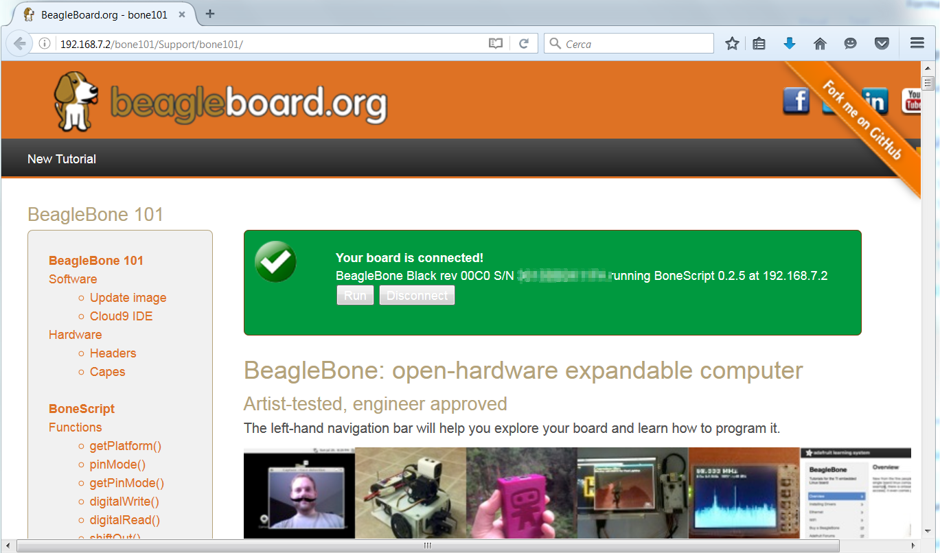 beaglebone web site