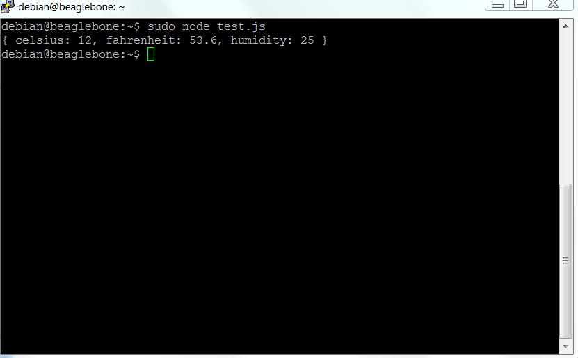temperature reading node.js