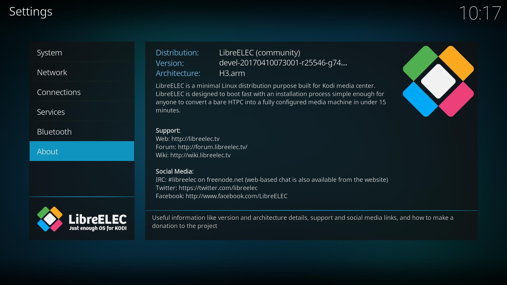 Libreelec8 in OrangePI PC   Micro Devices