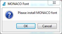 monaco-font